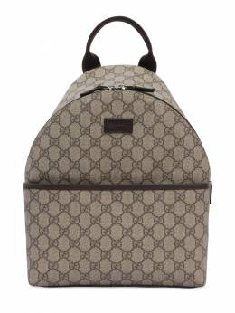 Gg Supreme Logo Faux Leather Backpack Gucci 71ILAS021-ODU4OA2