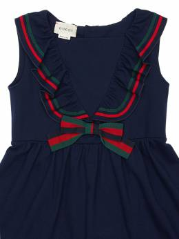 Cotton Piqué Dress W/web Details Gucci 71ILAP001-NDU4NQ2