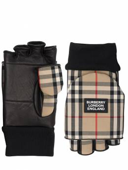 3-in-1 Check Cotton Blend Gloves Burberry 70IJT0062-QTcwMjY1