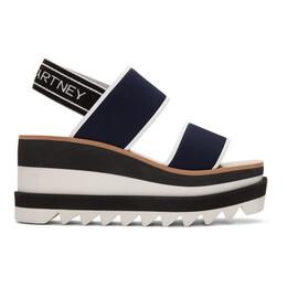 Stella McCartney Navy Platform Sporty Sandals 201471F12401113GB