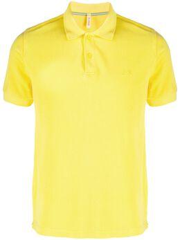 Sun 68 рубашка-поло с эффектом потертости A19103