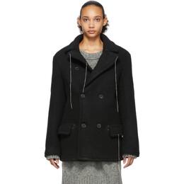 Maison Margiela Black Wool Herringbone Jacket 192168F06301002GB