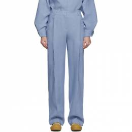 Jacquemus Blue Wool Le Pantalon Loya Trousers 192553F08701401GB