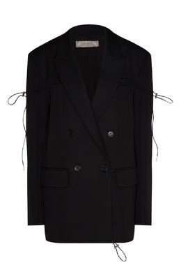 Черный шерстяной жакет с кулиской Nina Ricci 175166885