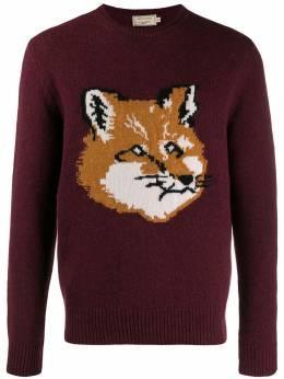 Maison Kitsune свитер с изображением BM00514BT319AW