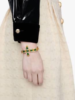 Gucci браслет с крестом из кабошонов 596014I7358