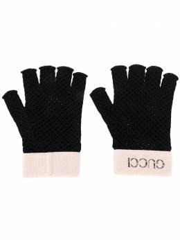Gucci перчатки-митенки в технике кроше 5762424SA76