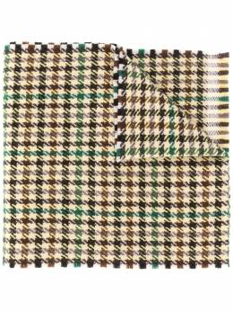 Gucci клетчатый шарф с бахромой 5942994GA17
