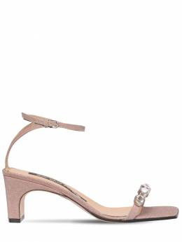 60mm Embellished Glitter Sandals Sergio Rossi 71IM1G011-NTcwNA2