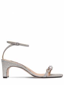 60mm Embellished Glitter Leather Sandals Sergio Rossi 71IM1G003-ODE5OA2