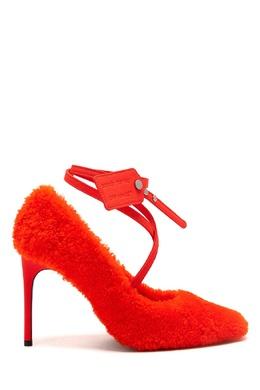 Оранжевые махровые туфли Off-White 2202166831