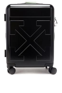 Черный чемодан с телескопической ручкой Off-White 2202166855