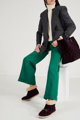 Ботинки из шерсти с узором GG Gucci 470166797