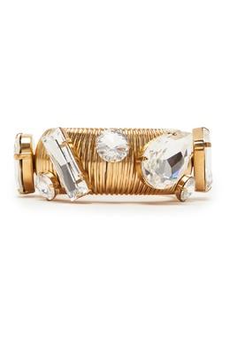 Золотой браслет с кристаллами Alessandra Rich 3165363