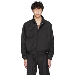 Random Identities Black Workwear Harrington Jacket SW-14