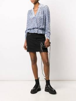 Zadig & Voltaire блузка с запахом и принтом SJCS3501F