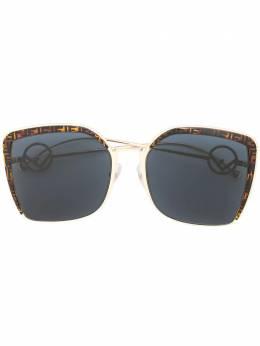 Fendi Eyewear солнцезащитные очки в массивной оправе с логотипом FF FF0294S