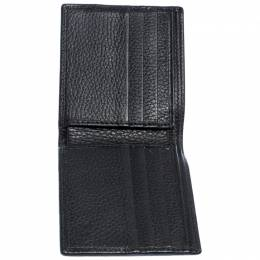Gucci Black Web Canvas and Leather Bifold Wallet