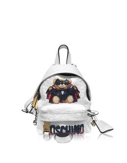 Teddy Bear - Маленький Белый Рюкзак Moschino 7637 8210 A1001 FANTASY PRINT WHITE