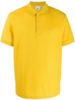 Burberry рубашка-поло с вышитой монограммой 8024017