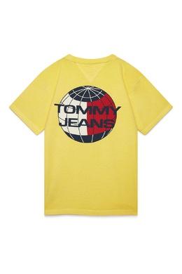 Желтая футболка с планетой Tommy Jeans 2726167381