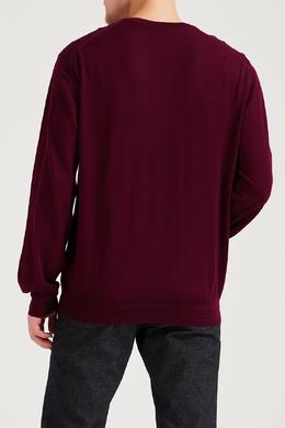 Бордовый кашемировый пуловер Brioni 1670166934