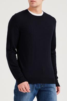 Синий шерстяной пуловер Brioni 1670166923