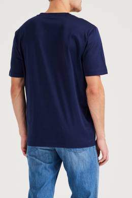 Синяя футболка с трикотажной отделкой Brioni 1670166922