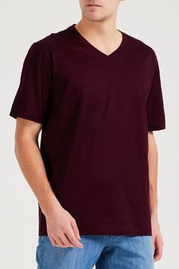 Бордовая футболка с короткими рукавами Brioni 1670166920