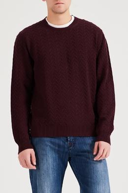 Бордовый пуловер с декором Brioni 1670166946