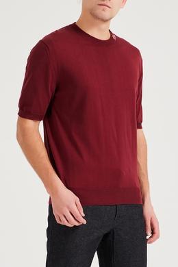 Бордовый пуловер с короткими рукавами Brioni 1670166924