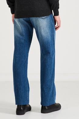 Сине-голубые хлопковые джинсы Kiton 1671166940