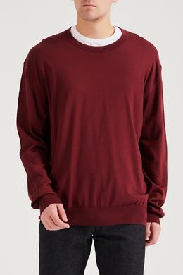 Хлопковый бордовый пуловер с кашемиром Brioni 1670166933