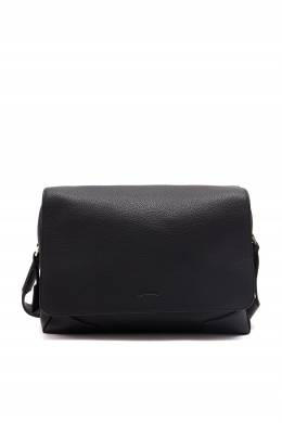 Вытянутая черная кожаная сумка Brioni 1670166953