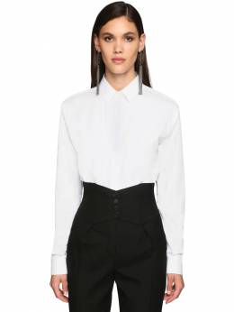 Classic Cotton Poplin Shirt Saint Laurent 71IWJA013-OTAwMA2