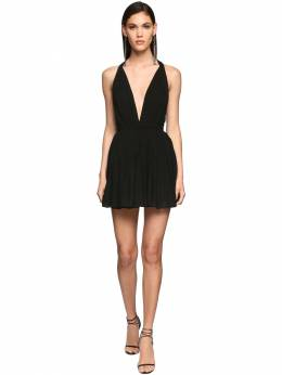 Viscose Crepe Mini Dress Saint Laurent 71IWJA002-MTAwMA2
