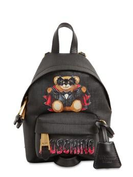 Mini Coated Canvas Backpack Moschino 71IL0M021-QTE1NTU1