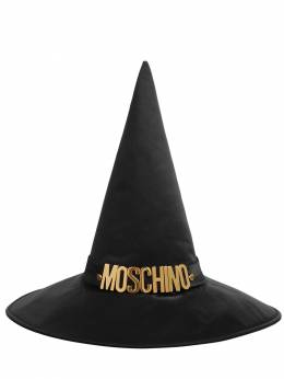 Logo Satin Witch Hat Moschino 71IL0M010-QTIwNg2