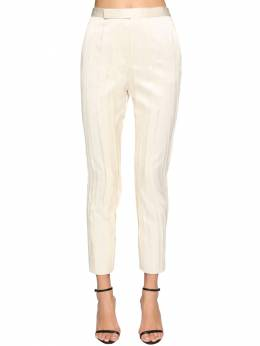 Classic Pleated Satin Pants Saint Laurent 71IA8C023-OTYwMQ2
