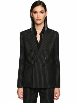 Double Breasted Pinstripe Wool Blazer Saint Laurent 71IA8C018-MTA4MQ2