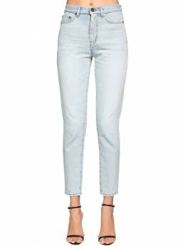 Cotton Denim Carrot Jeans Saint Laurent 71IA8C005-NDE4Mw2