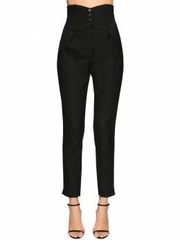 High Waist Gabardine Pants Saint Laurent 71IA8C002-MTAwMA2