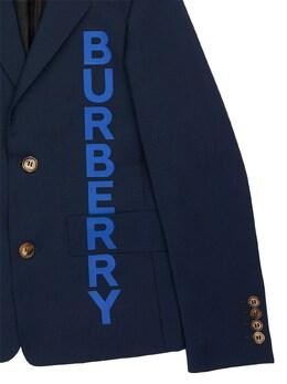 Logo Print Cool Wool Jacket Burberry 71I91K009-QTEyMjI1