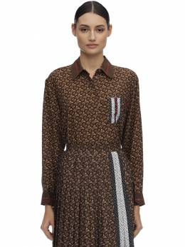 Шелковая Рубашка С Принтом Burberry 71I040005-QTc0MzY1