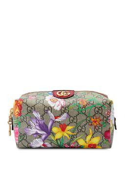 Gucci косметичка Ophidia с принтом Flora и логотипом GG 548393HVEBC