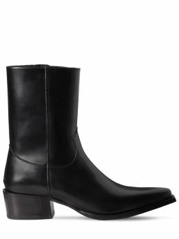 55mm Zip-up Leather Boots Dsquared2 71IGH4002-MjEyNA2