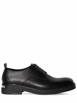 45mm Leather Derby Shoes Dsquared2 71IGH4005-MjEyNA2