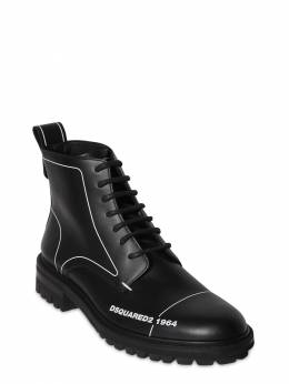45mm Lace-up Leather Ankle Boots Dsquared2 71IGH4007-MjEyNA2