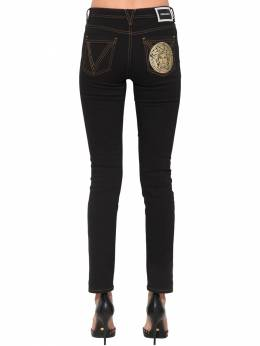 Medusa Slim Cotton Denim Jeans Versace 71IA86109-QTgwMDg1