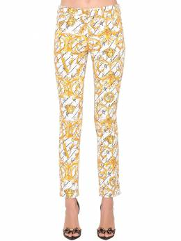Slim Printed Cotton Denim Jeans Versace 71IA86105-QTcwMDQ1